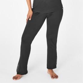 пижама,дамски,пижами,biba,biba,lace,trim,pyjama,trousers,black