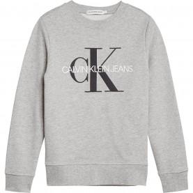 детска,блуза,детски,блузи,calvin,klein,junior,boys,monogram,crew,neck,sweatshirt,light,grey