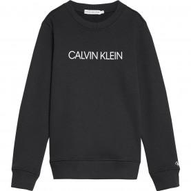детска,блуза,детски,блузи,calvin,klein,junior,boys,institutional,crew,sweatshirt,black,bae