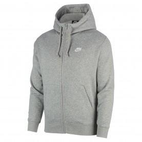 суичър,мъжки,горнища,с,качулка,мъжки,полари,nike,sportswear,club,fleece,men's,full,zip,hoodie,grey