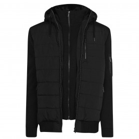 мъжко,яке,мъжки,якета,firetrap,sartorial,knit,jacket,mens,black