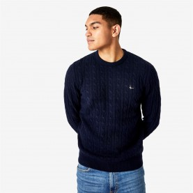 пуловер,мъжки,пуловери,jack,wills,marlow,merino,wool,cable,knitted,jumper,navy