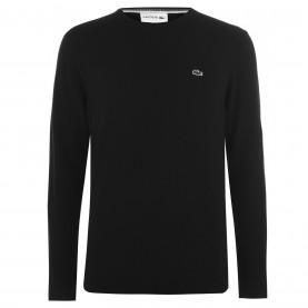 блуза,мъжки,пуловери,lacoste,crew,knit,sweater,black,031