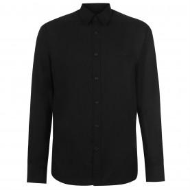 pierre,cardin,long,sleeve,shirt,mens,black