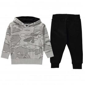 бебешки,комплект,бебешки,облекла,детски,полари,детски,екипи,firetrap,2,piece,jogger,set,baby,boys,grey,marl,black