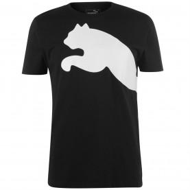 мъжка,тениска,мъжки,тениски,puma,big,cat,qt,t,shirt,mens,black,white