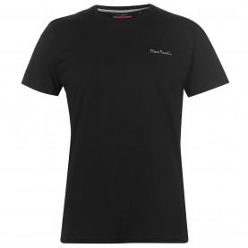 мъжка,тениска,мъжки,тениски,pierre,cardin,plain,t,shirt,mens,black