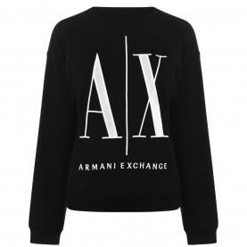 блуза,дамски,пижами,дамски,блузи,armani,exchange,armani,logo,sweater,black