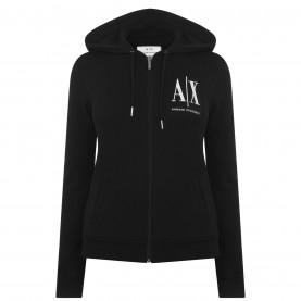 суичър,дамски,пижами,дамски,блузи,armani,exchange,icon,zipped,hoodie,black,1200