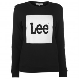 дамска,блуза,дамски,горнища,с,качулка,дамски,ежедневни,облекла,lee,jeans,lee,logo,sweater,womens,black