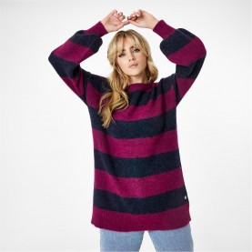 пуловер,дамски,плетени,дрехи,jack,wills,bowland,stripe,knitted,jumper,with,wool,orchid,navy