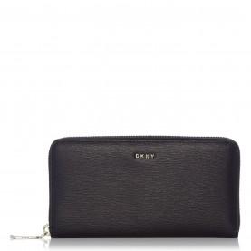 дамски,чанти,dkny,sutton,large,zip,around,purse,black