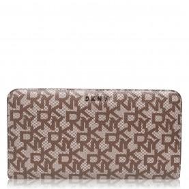 дамски,чанти,dkny,all,over,logo,zip,around,purse,chinocaramelnhj