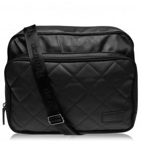 чанта,за,през,рамо,куфари,дамски,чанти,мъжки,чанти,и,портмонета,firetrap,quilted,flight,bag,black