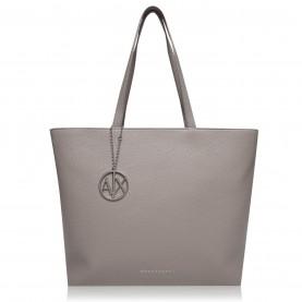 дамски,чанти,armani,exchange,pebble,medium,tote,bag,taupe,14253