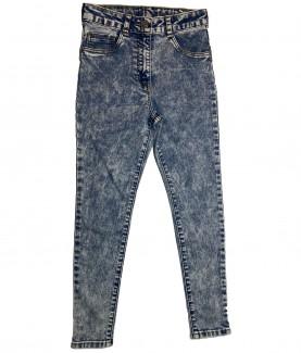 дънки, момиче, ластични, дълги, джобове, светлосини, lycra, памучни, вталена, кройка