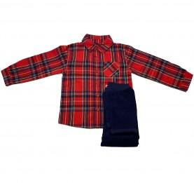 комплект, момче, карирана, риза, джинсов, панталон, чино, джинси, дълъг, ръкав, памук