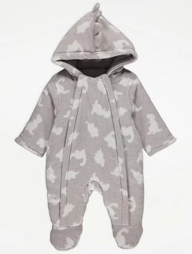 бебешки,дрехи,детски,гащеризон,george,полар,динозавър,мек,топло,зимен