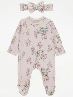 бебешки,дрехи,боди,ританки,гащеризон,тинкърбел,disney,розово,лента,за,глава,george,панделка