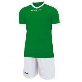 мъжки,екипи,всички,футболни,облекла,футболни,анцузи,givova,kit,revolution,football,jersey,with,shorts,green,white