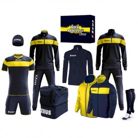 мъжки,екипи,всички,футболни,облекла,футболни,анцузи,zeus,apollo,football,kit,teamwear,box,12,pieces,navy,yellow