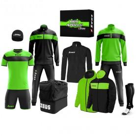 мъжки,екипи,всички,футболни,облекла,футболни,анцузи,zeus,apollo,football,kit,teamwear,box,12,pieces,neon,green,black
