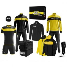 мъжки,екипи,всички,футболни,облекла,футболни,анцузи,zeus,apollo,football,kit,teamwear,box,12,pieces,black,yellow