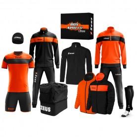 мъжки,екипи,всички,футболни,облекла,футболни,анцузи,zeus,apollo,football,kit,teamwear,box,12,pieces,black,neon,orange