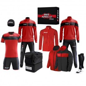 мъжки,екипи,всички,футболни,облекла,футболни,анцузи,zeus,apollo,football,kit,teamwear,box,12,pieces,black,red