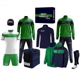 мъжки,екипи,всички,футболни,облекла,футболни,анцузи,zeus,apollo,football,kit,teamwear,box,12,pieces,navy,green