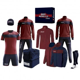 мъжки,екипи,всички,футболни,облекла,футболни,анцузи,zeus,apollo,football,kit,teamwear,box,12,pieces,navy,dark,red