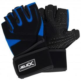 фитнес,оборудване,фитнес,аксесоари,йога,и,пилатес,jelex,power,premium,padded,training,gloves,black,blue
