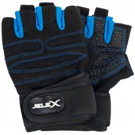 фитнес,оборудване,фитнес,аксесоари,йога,и,пилатес,jelex,fit,padded,training,gloves,black,blue