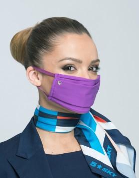 Трислойна маска с декоративен сатен