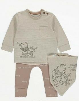 детски,комплект,блуза,панталон,бандана,мечо,пух,disney,george,winnie,the,pooh,памук,костюмче