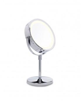 огледало, две, лица, увеличаване, LED, светлина